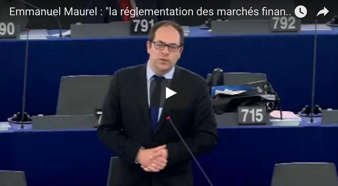 Emmanuel Maurel : «la réglementation des marchés financiers est un impératif»