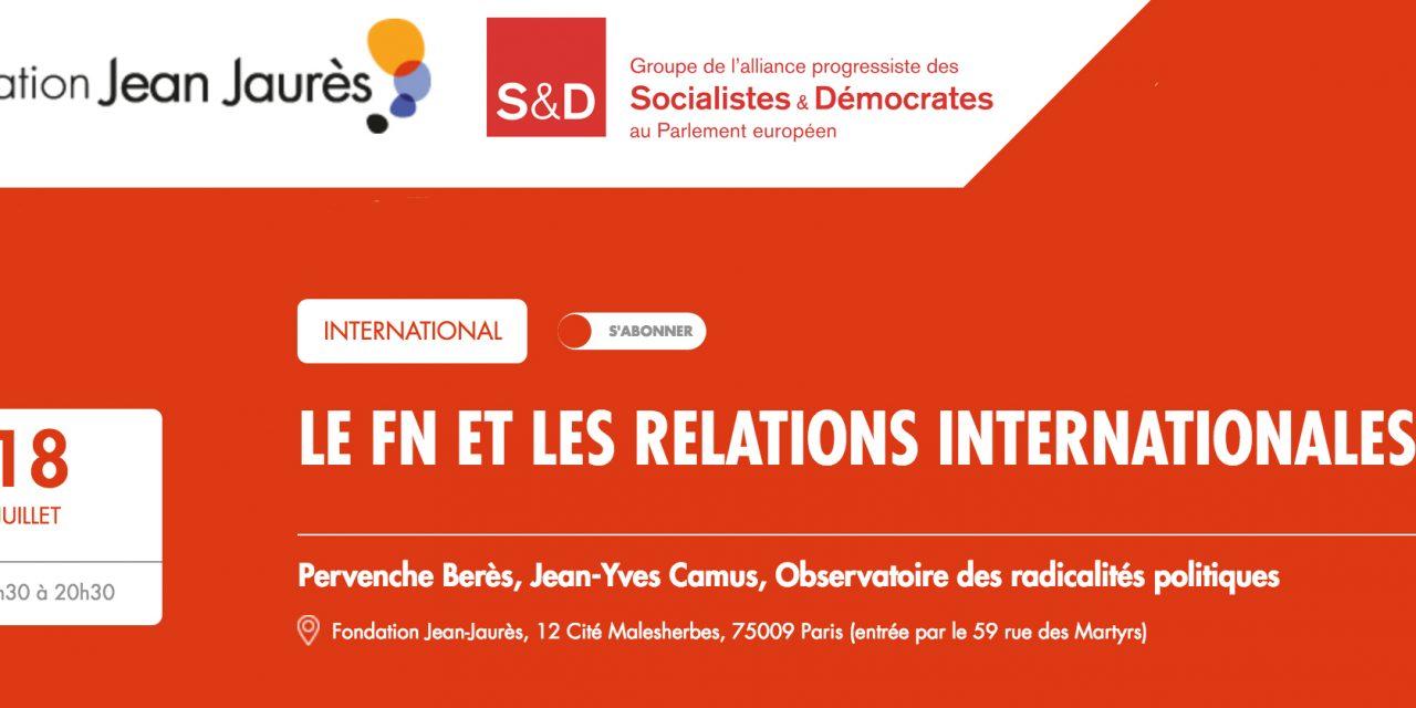 LE FN ET LES RELATIONS INTERNATIONALES