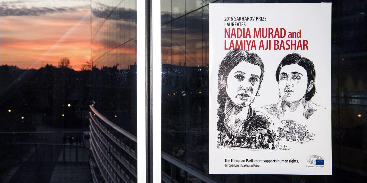 Remise du Prix Sakharov à Nadia Mourad et Lamiya Aji Bachar