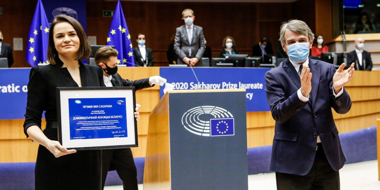 L'opposition démocratique bélarusse reçoit le Prix Sakharov